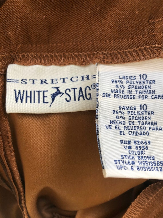 1990's, White Stag, Faux Suede, Brown Polyester, … - image 3