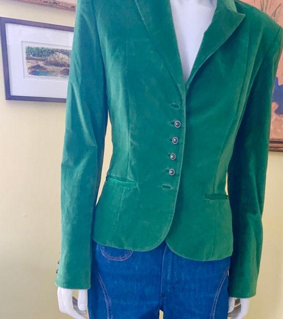 Vintage, Green Velvet, Tailored Blazer, size s/m