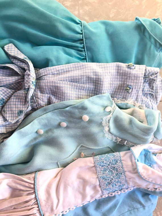 1950-1960's, Lot Of Four, Baby Blue, Dresses, Coat