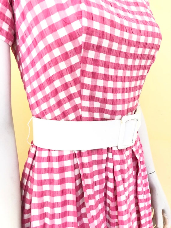 Late 1950's-early 60's, Pink Gingham, Cotton Day D