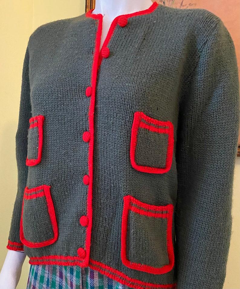 Preppy Cardigan Size XSS 100/% Wool Evan Picone SALE 1960-70/'s