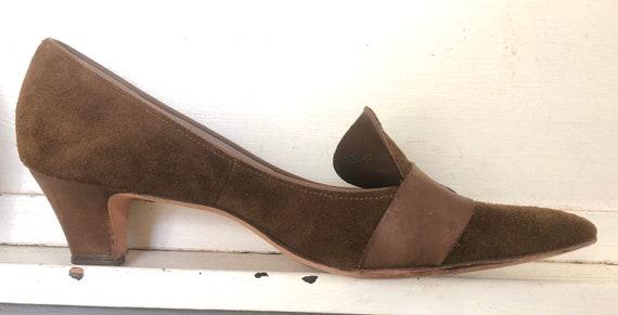 Vintage, Suede Pilgrim Shoes, Town & Country Heels