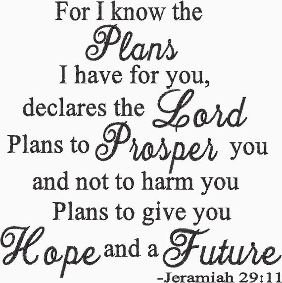 For I Know The Plans I Have For You Declares The Lord Plans To Etsy