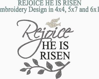 He is Risen Rhinestone Transfer Easter Motif Easter