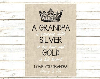 Grandpa Gift Print And Pop Into Any Frame DIY Instant Download Birthday Christmas Stocking Stuffer