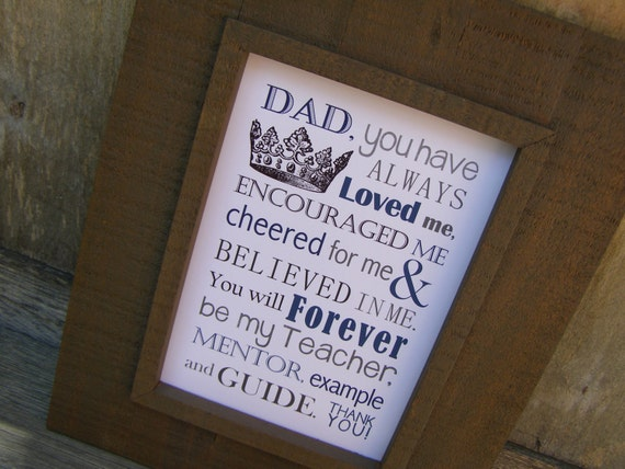 Fathers Day Gift Dad Poem Print And Pop Into Any Frame DIY