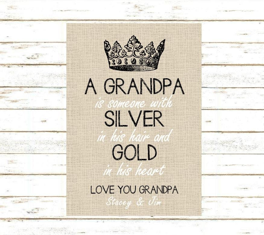 Grandpa Gift. Print and Pop into any frame. DIY Instant | Etsy