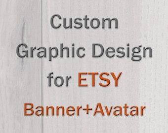 Custom Graphic Design for ETSY -banner & avatar-
