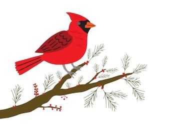 Cardinal (4x4 Card)