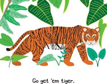 Tiger (4x4 Card)