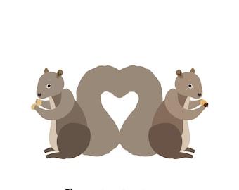 Squirrels (4x4 Card)