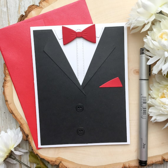 Birthday Card Handmade Tuxedo Dads Day