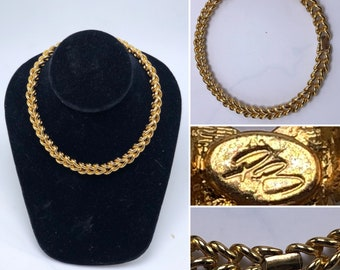 1be8ad071ba PIERRE BALMAIN Vintage 1960's Gold Tone Chain Link Necklace / Costume  Jewelry