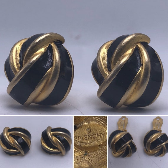 GIVENCHY Vintage 1960's Clip On Earrings