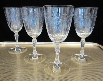 Waterford-Style Cut Crystal w Diamond and Wedge Cuts in an Eggplant Themed Fruit Bowl or Serving Dish or Shabby-Chic Tabletop Centerpiece