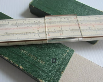 Vintage German Slide Ruler FABER CASTELL 5787 Reitz Schul-Rechenstab 70/'s