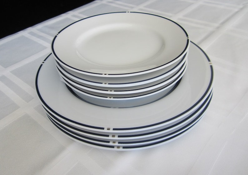 American Airlines Plates 8 Pc Swid Powell First Class Dining Vintage  Postmodern Salad And Bread U0026 Butter Plate Set Gwathmey Siegel Design NY