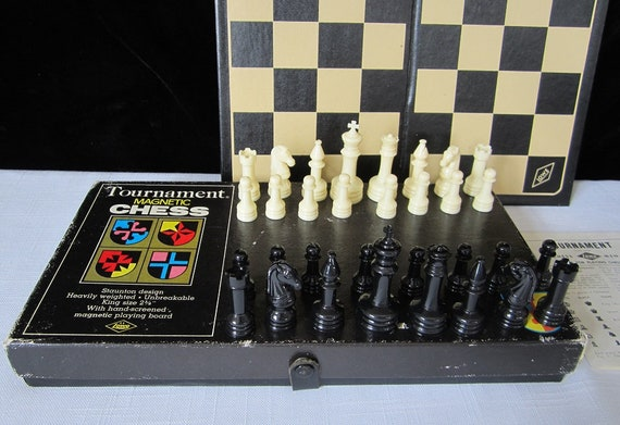 Lot of 2 Vintage General Store Magnetic Pocket Chess Set NIB