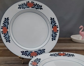 Set Of 5 Niels Refsgaard White 5 Dansk Bistro Caf\u00e9 Belgian Blue Salad Blue Dishes Portugal Small Plates