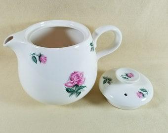 Teapot ~ Rhythm Rose Pattern ~ Household Institute ~ Homer Laughlin ~ Pink Rose Tea Pot ~ Chocolate ~ Coffee Pot ~ Penny Lane Treasures