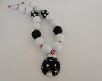 Lucky Ladybug Bubble Gum Bead Necklace