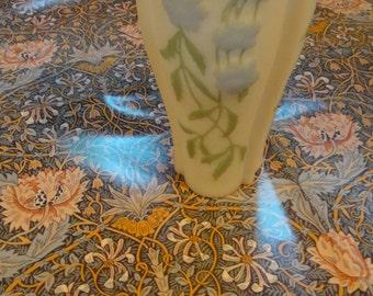 Cameo vintage flowers blue green graceful deco mother gift  glass vase