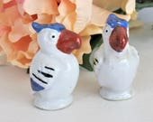 Vintage Salt and Pepper Shaker German Parrot BIrd S P Set Ceramic Made in Germany Collectible Kitchen