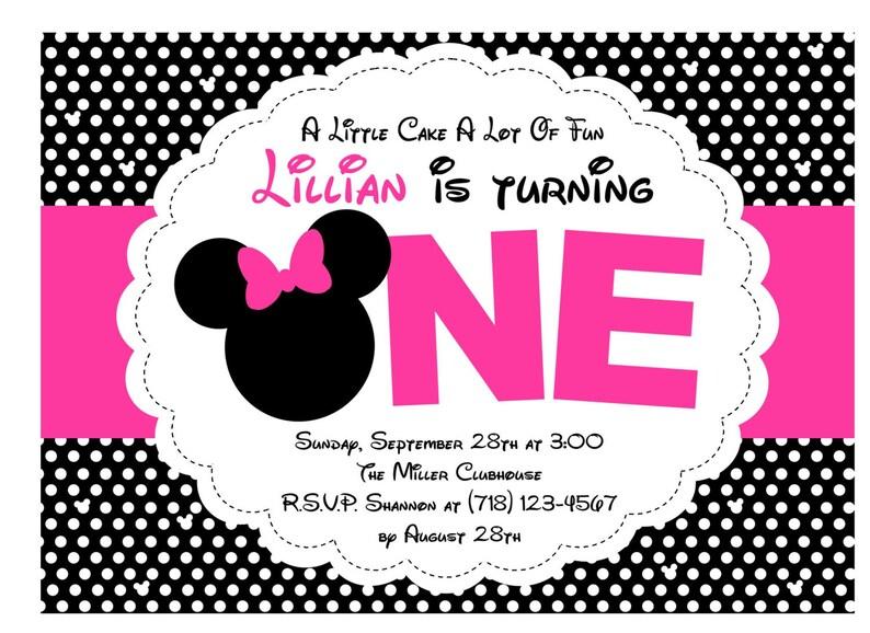 Minnie Mouse Birthday Invitation Print At Home