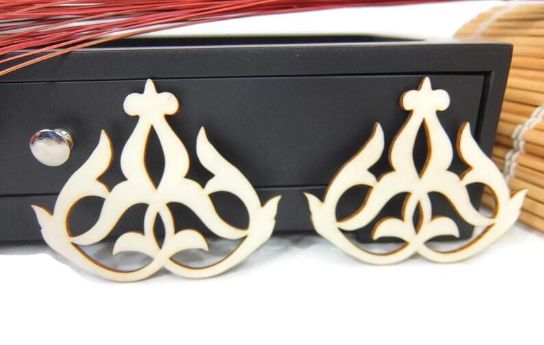 Piastrelle marocchine design laser taglio forme di legno etsy