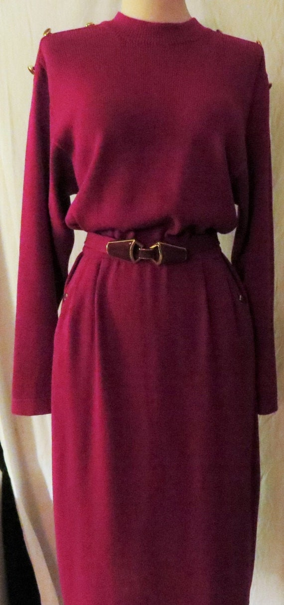 Vintage St John Magenta Knit Dress