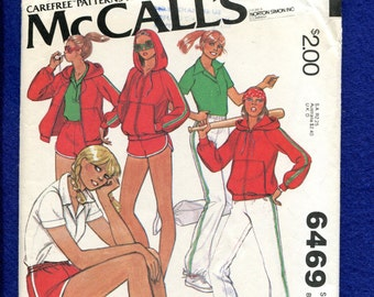 1970's McCall's 6469 Active Sportswear for Tennis & Jogging Size 10 UNCUT