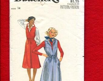 1970's Butterick 5521 Retro Factory Uniform Style Jumper Size 14
