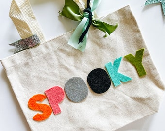 PREORDER rainBOO Small Trick or Treat Bag | Halloween Bag | Trick or Treat | Halloween Kids Decor | Halloween Decor
