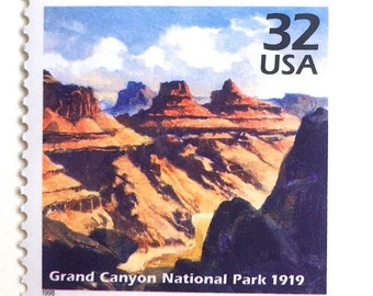 10 Unused Grand Canyon Postage Stamps  John Wesley Powell Expedition on the Colorado River  Vintage Unused Southwestern Stamps for Mailing