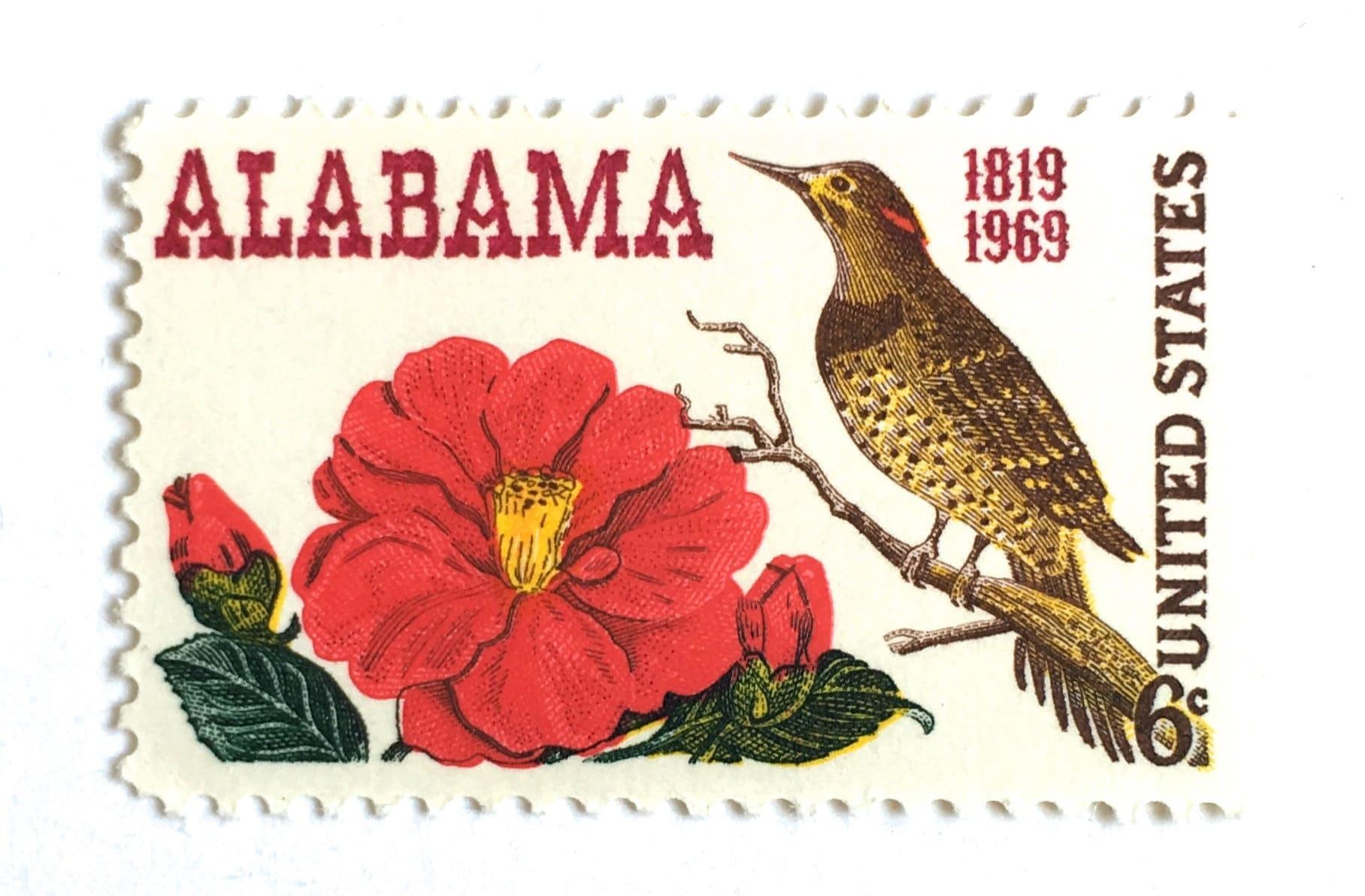 10 Unused Vintage Camellia Postage Stamps // 1969 Southern | Etsy