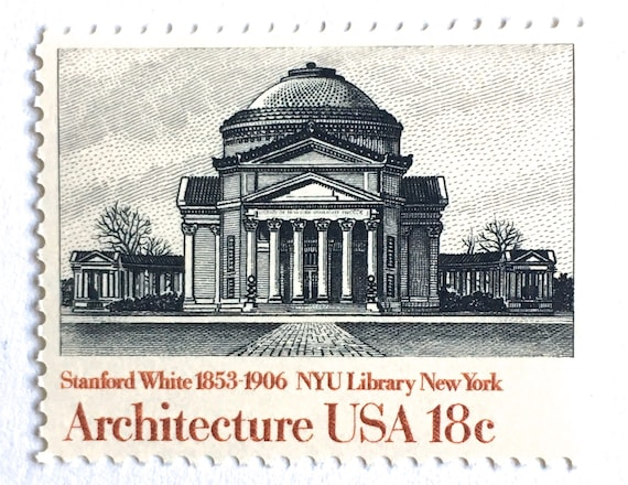 10 Vintage New York City Postage Stamps NYU Library