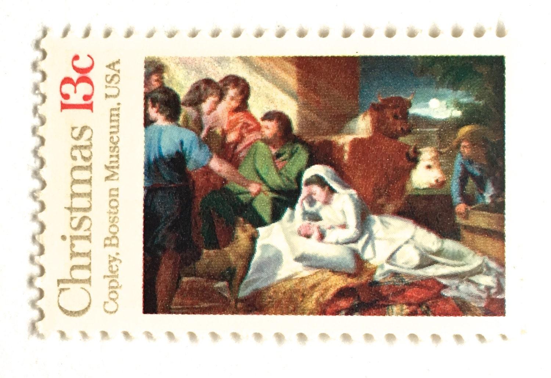 10 Unused Vintage Nativity Postage Stamps // Religious | Etsy