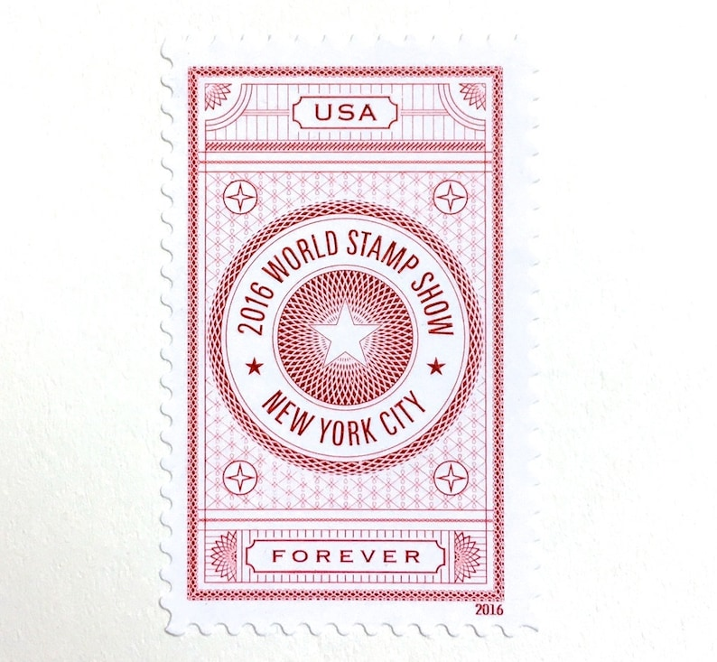 10 New York City Forever Stamps // Vintage Style Pink and image 0