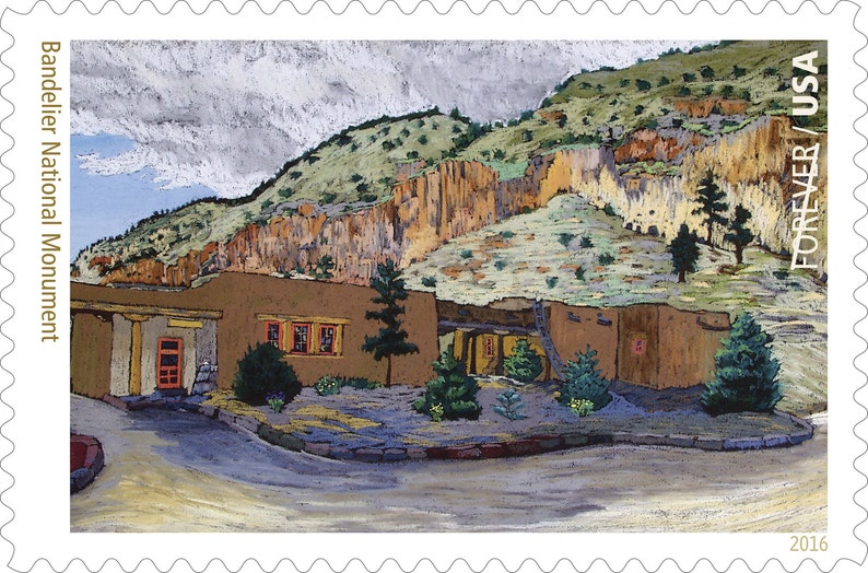 10 Unused Southwest Pueblo Adobe Forever Postage Stamps  Bandelier National Park  Unused New Mexico Forever Stamps  For Mailing