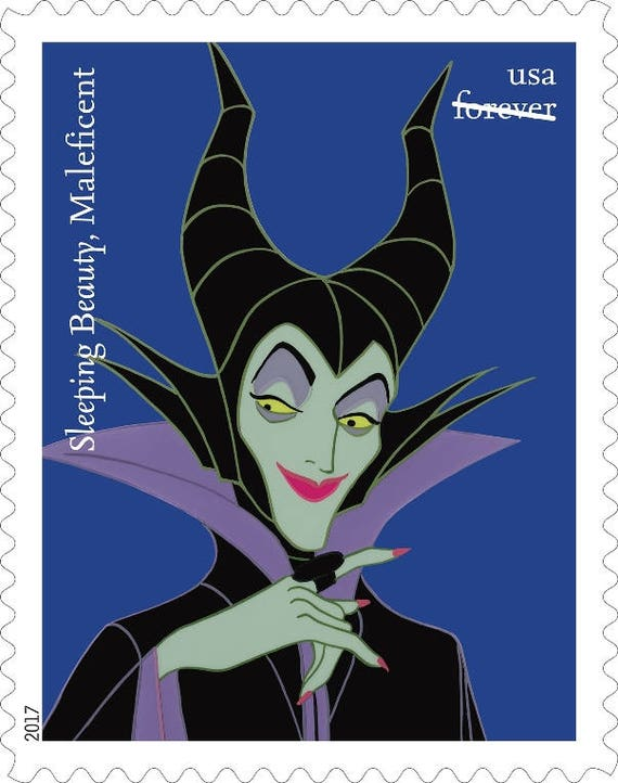 5 Maleficent Disney Villain Forever Stamps Disney S Sleeping Beauty Villain Forever Postage Stamps For Mailing