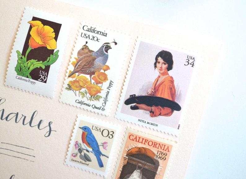 5 Unused Artist Postage Stamps  34 Cent American Illustrator  Vintage Neysa McMein Print Stamps