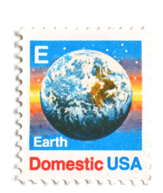 10 Timbres De Terre Inutilisés Vintage 1988 Planète Terre De L Espace 25 Cents Timbres Poste Pour L Envoi