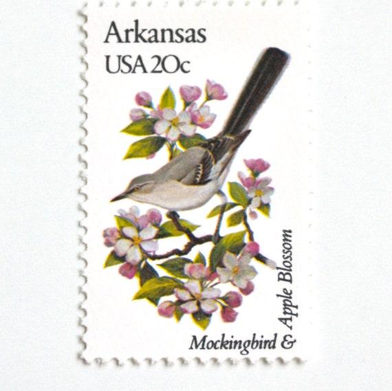 10 Unused Mockingbird Vintage Postage Stamps
