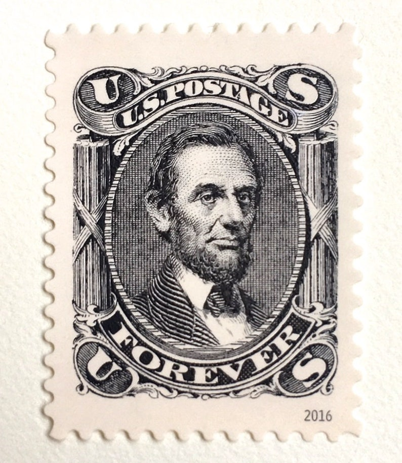 10 Lincoln Forever Postage Stamps // Vintage Style Forever image 0