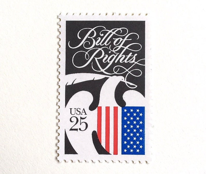10 American Eagle Postage Stamps // Black and White Vintage image 0