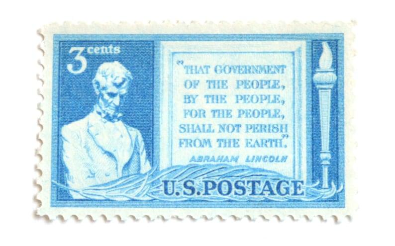 10 Unused Abraham Lincoln Postage Stamps  Vintage 3 Cent Gettysburg Address Postage Stamps for Mailing