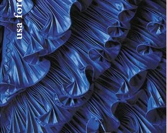 Blue Design Forever Postage Stamps / Cobalt Blue Oscar De La Renta Designer Gown / Navy Blue Dress Fashion Forever Stamps for Mailing