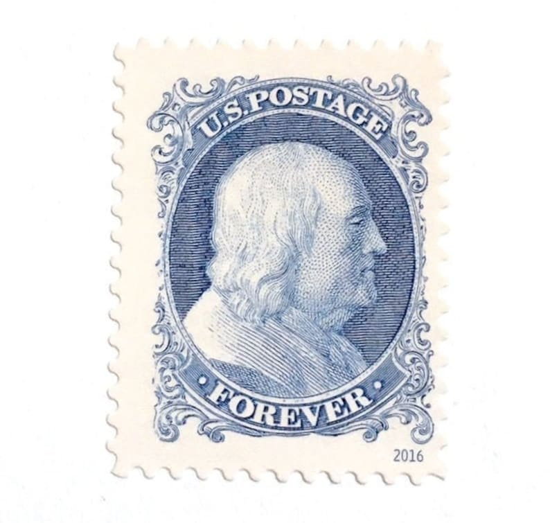 10 Blue Forever Classics Postage Stamps Unused Vintage Style image 0