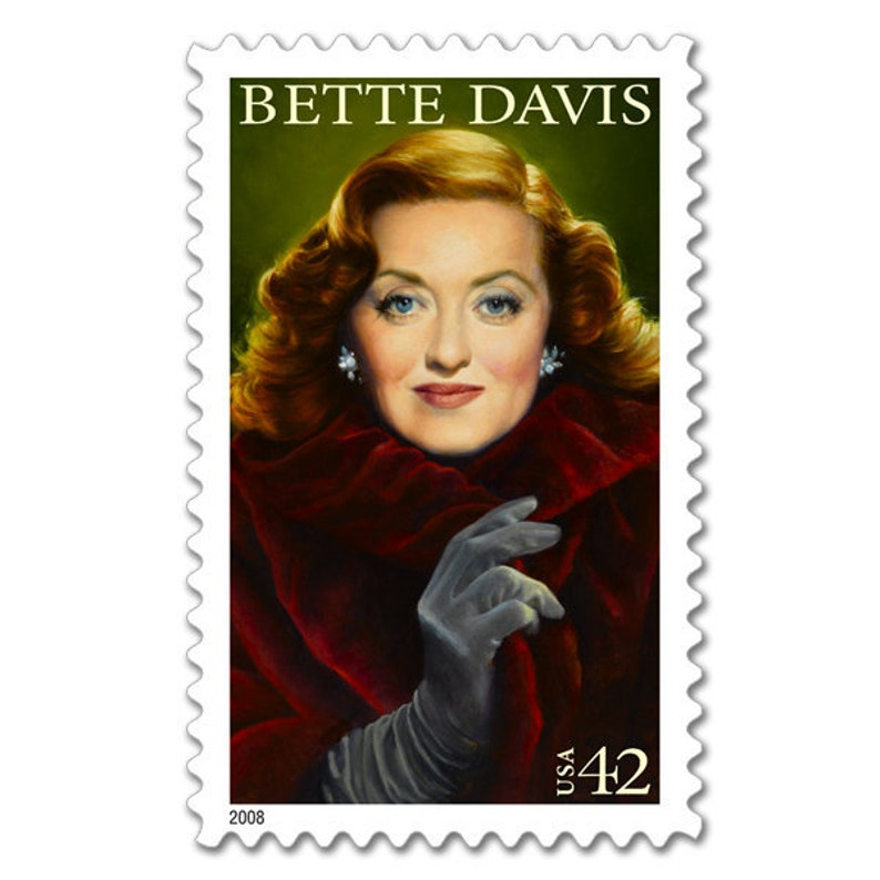 10 Bette Davis Postage Stamps // Classic Hollywood Film image 0