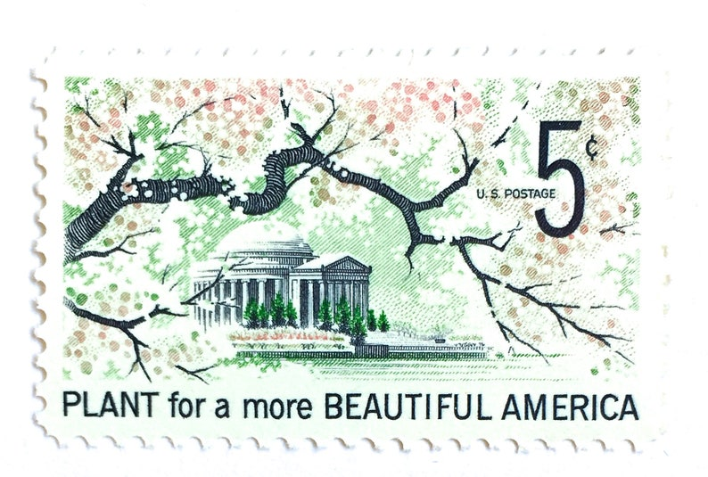 10 Vintage Cherry Blossom Stamps / Plant for a More Beautiful image 0